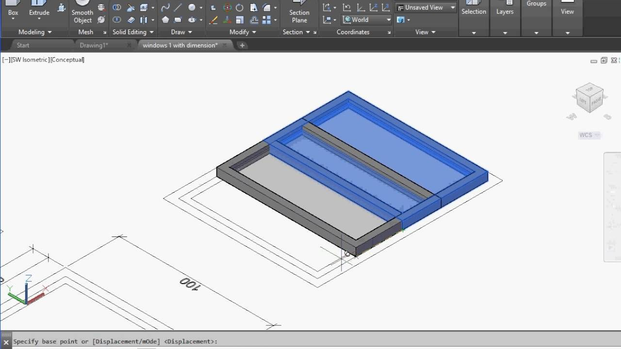 Drawing Smooth Lines In Autocad : Autocad draw d sliding windows tutorial for