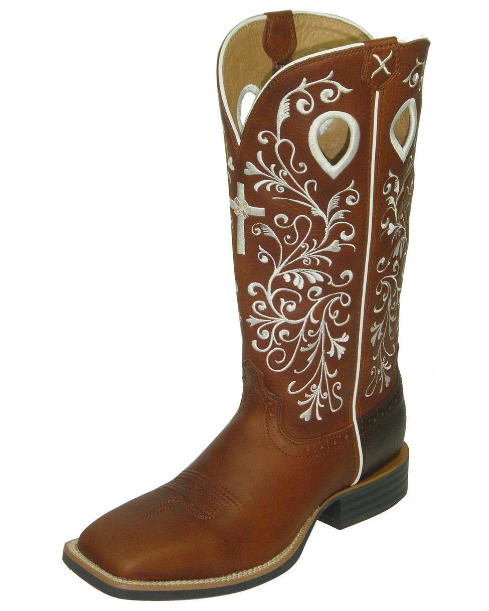 Twisted X Boots Women's Ruff Stock NWS Toe - Peanut/Peanut - LOVE THESE!