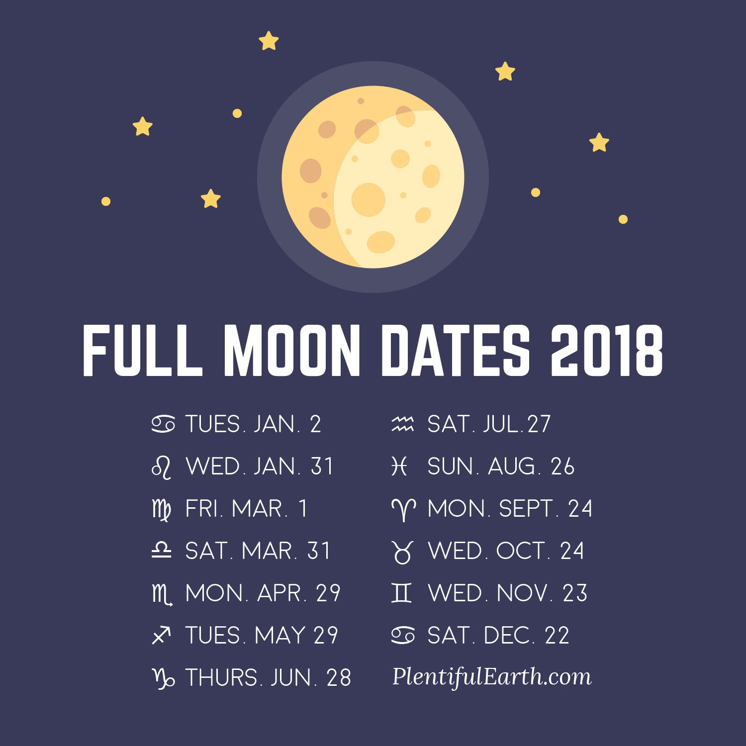 Full Moon In 2018 >> Moon Phase Calendar Of 2018 Love Dream Moon Full Moon Full