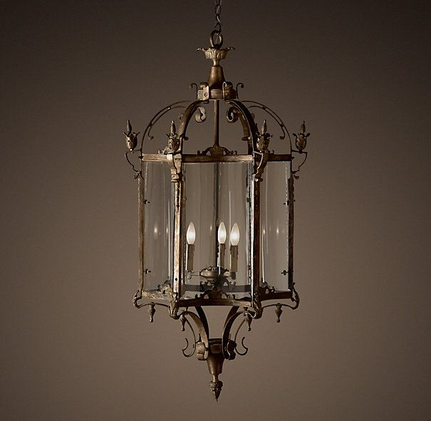 Restoration Hardware Black Light: 19th C. Salerno Streetlight Pendant