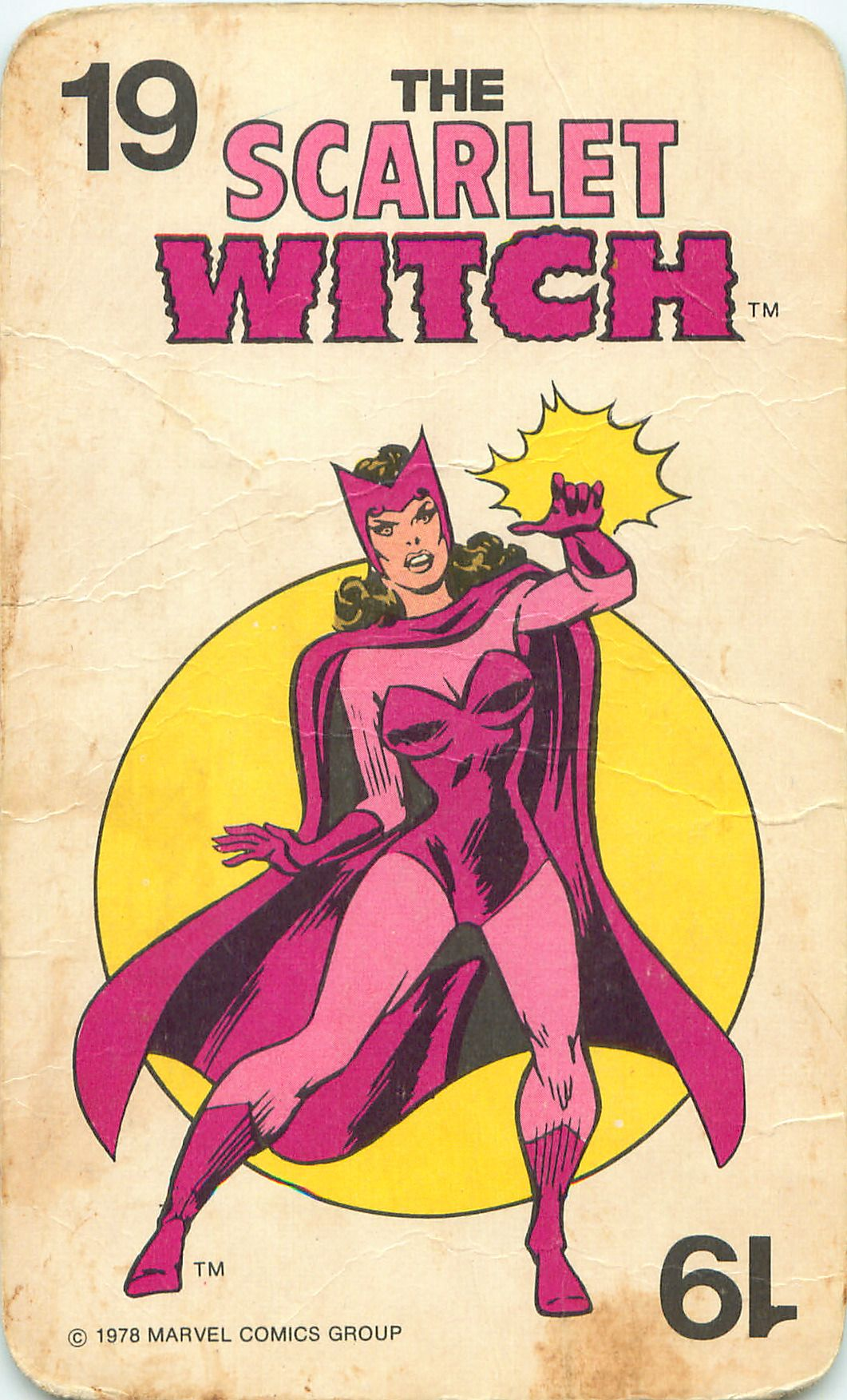 Marvel Comics Super-Heroes Card Game (1978) - Scarlet Witch