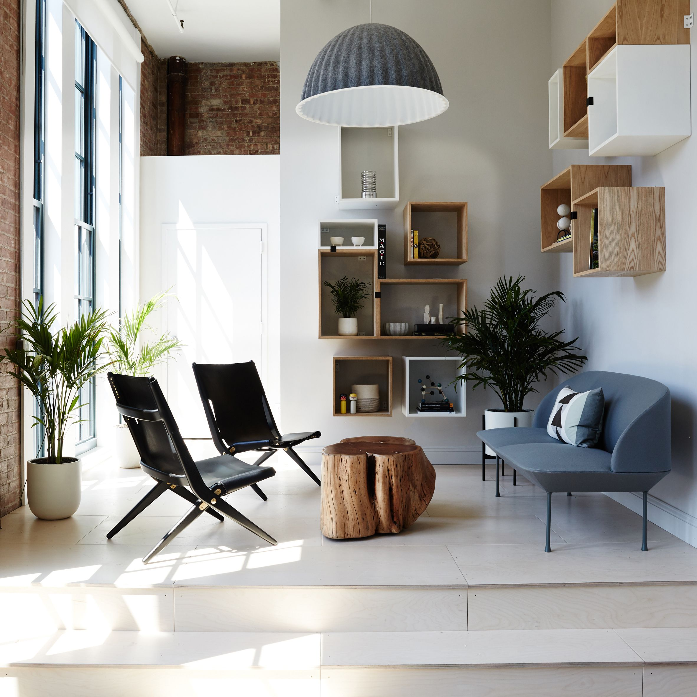 Designer Sheena Murphy Used Plywood Black Steel And Felt For The Scandinavian Influenced Office Dots Company Behind Two Co