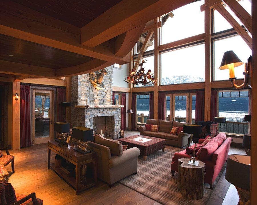 Mountain lodge interior design hotel british for Hunting lodge designs