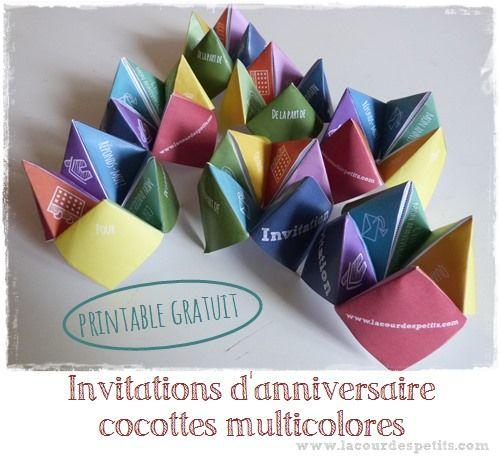 Préférence Invitation d'anniversaire cocotte + free printable | Invitation  VZ06