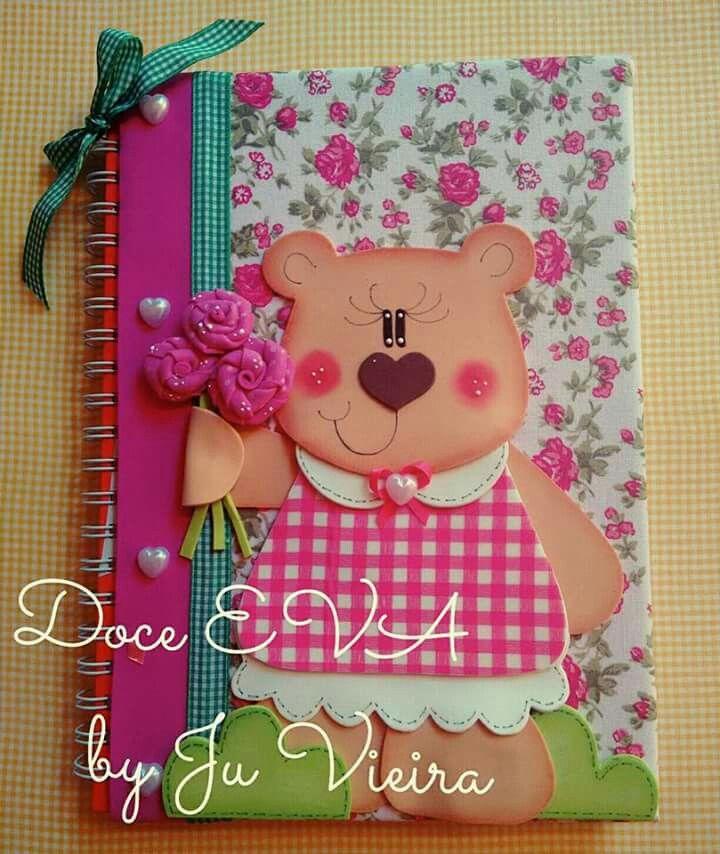Resultado de imagen para cuadernos decorados en goma eva for Decoracion infantil goma eva