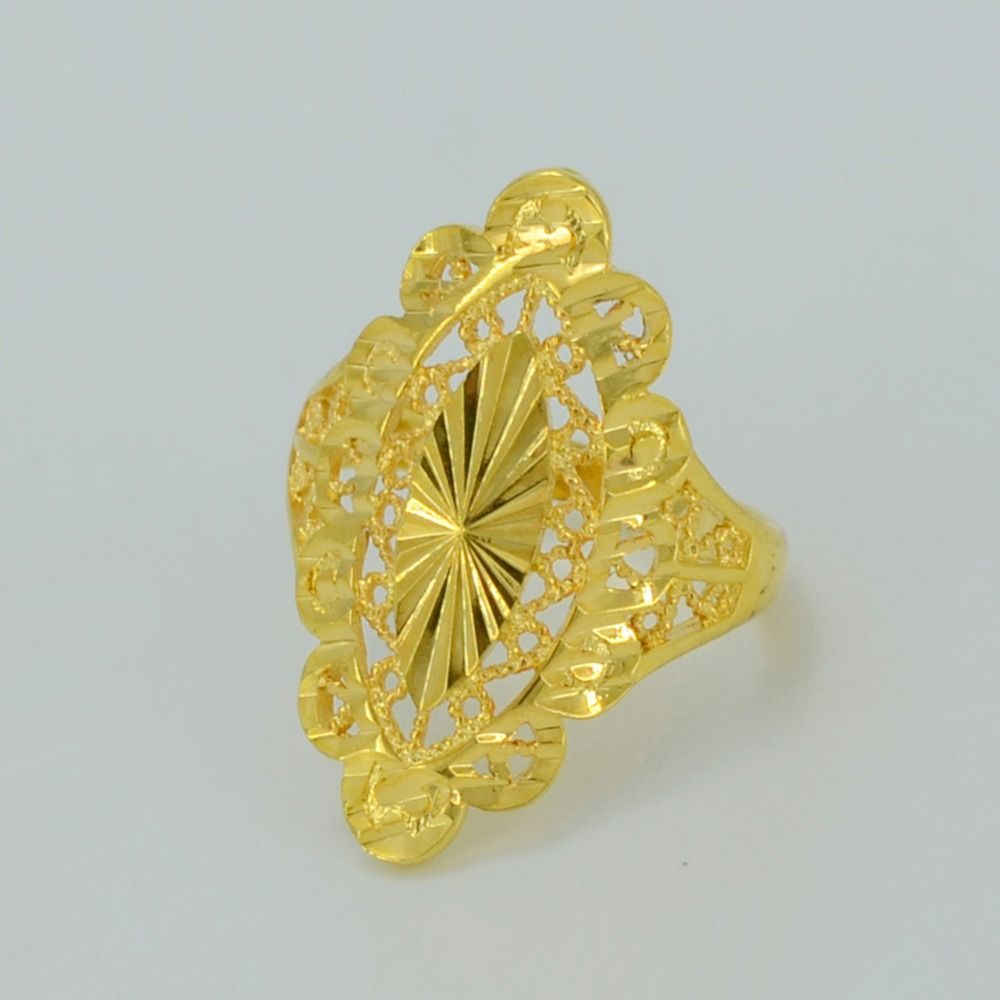 Africa Gold Ring for Womens Real Gold Plated Copper Dubai Ring