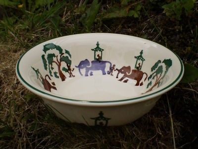 Working Elephants Cereal Bowl (Discontinued)