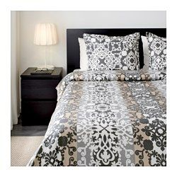 Ikea Prakttry Duvet Cover And Pillowcases Graywhitebeige