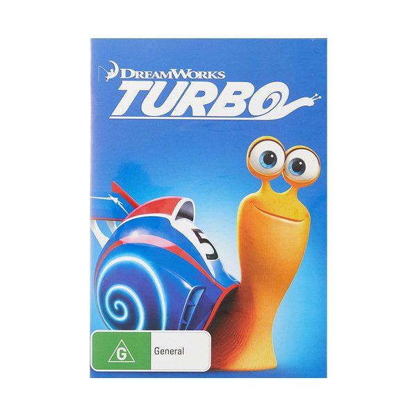 Product: Turbo [DVD] Format: DVD Catalogue No: 95779SDG Studio: Universal Certification: G Release Date: 2014-03-09 Region: Region 4 Duration: 95 minutes Discs: 1 disc(s) Produced (year): 2013 Colour: Colour Extras: Language(s): English|Interactive Menu