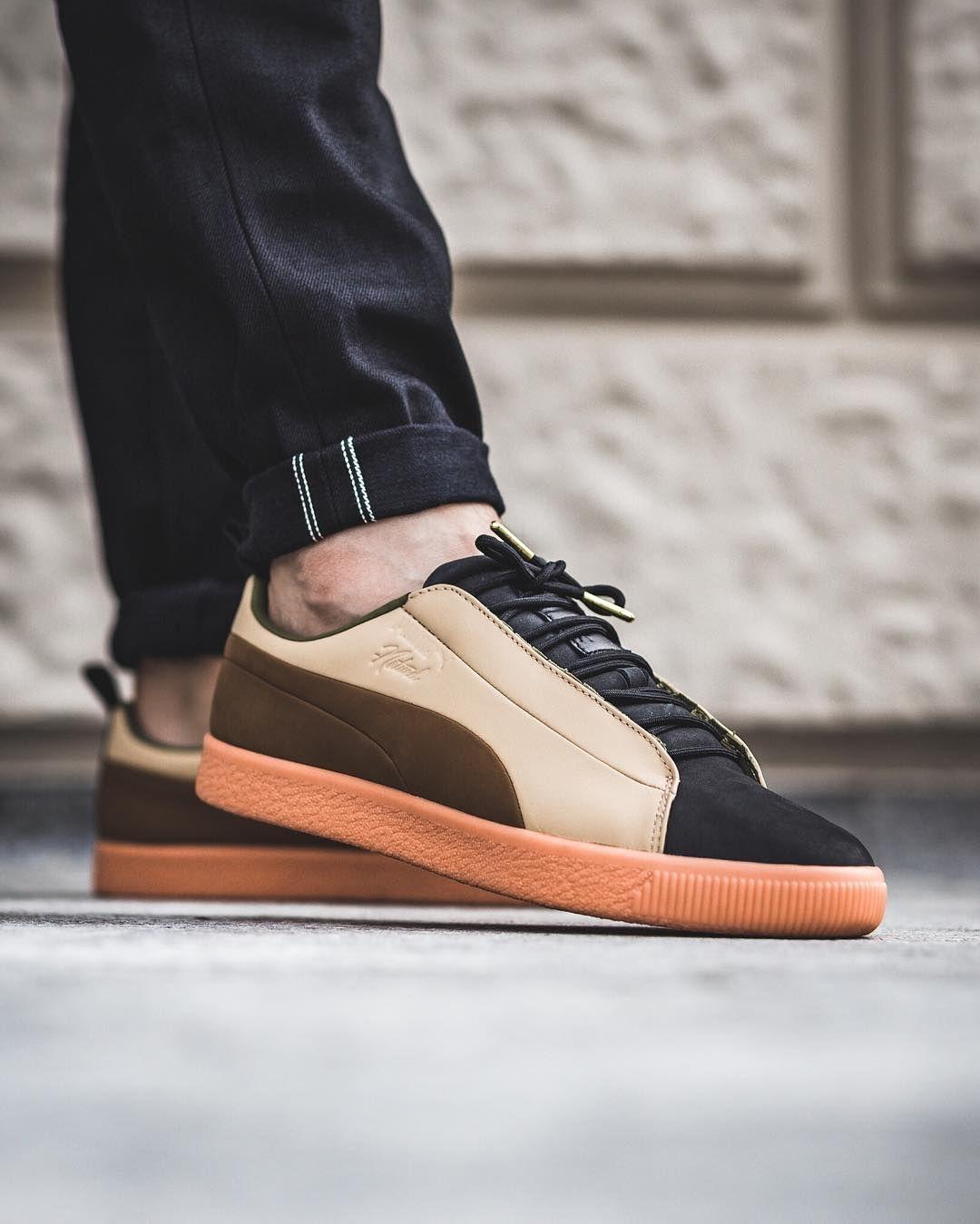 new product e7340 9e33d PUMA Clyde FSHN Glow Naturel | PUMA in 2019 | Puma sneakers ...