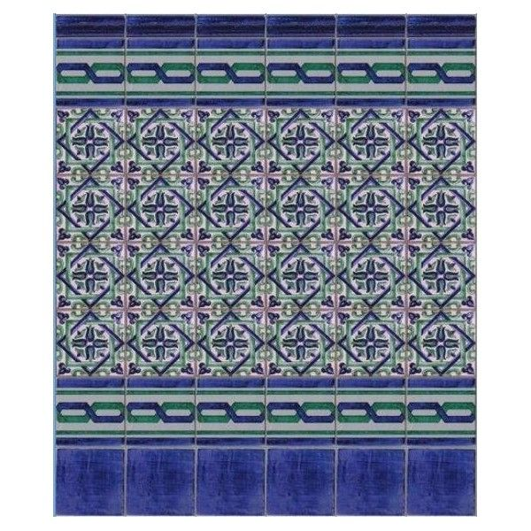 Composici n de azulejos que combina en los azulejos el for Azulejos de patio