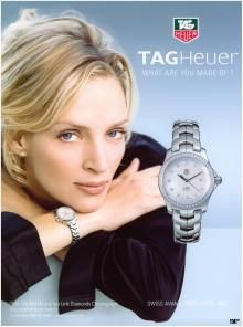 Umu Thurman For Tag Heuer Tag Heuer Watches Com With Images