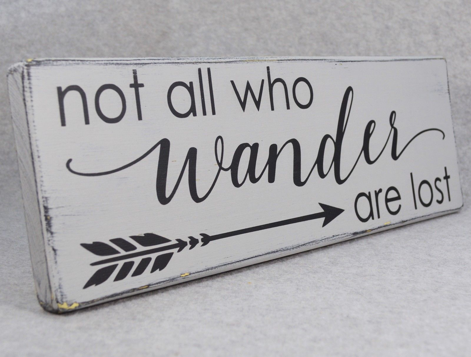Rustic Not All Who Wander Are Lost Arrow Home Decor Wood Sign Paris ...