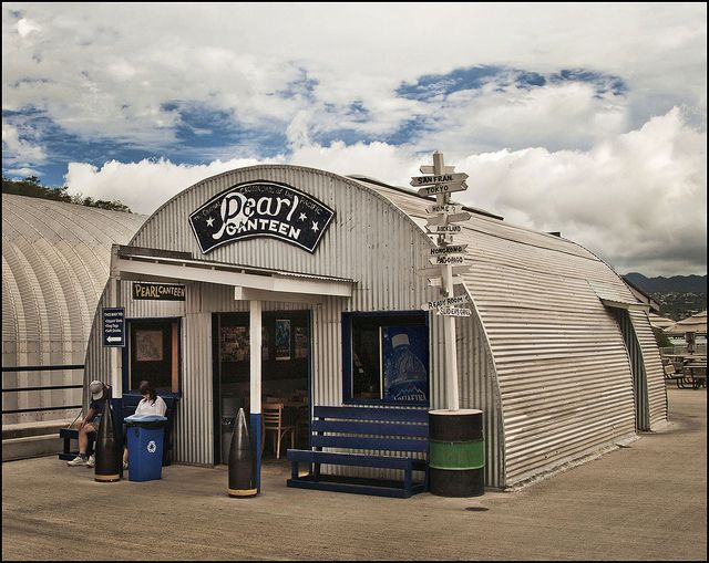 Military Surplus Quonset Huts For Sale >> Quonset Hut Snack Bar, Pearl Harbor | Quonset hut, Quonset ...