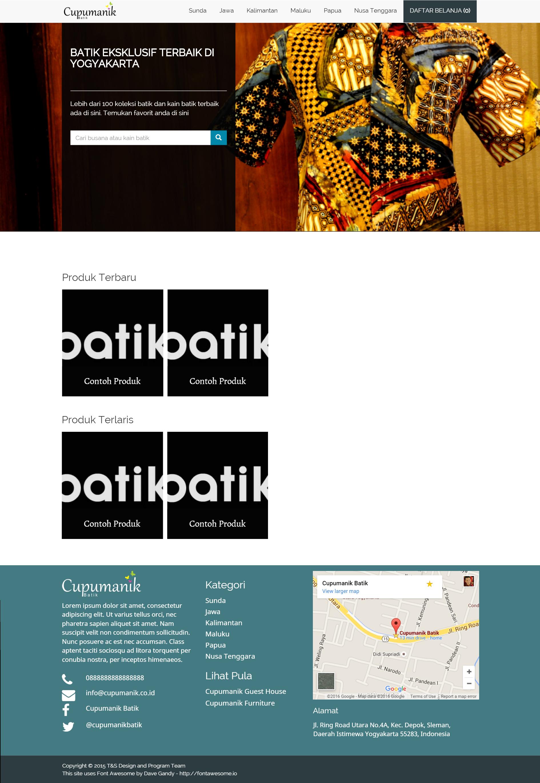 E Commerce Styled Website Of Cupumanik Batik Http Batik Cupumanik
