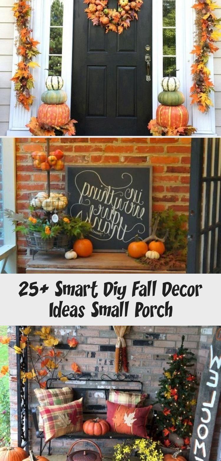 25+ Smart Diy Fall Decor Ideas Small Porch #falldecorideasfortheporch