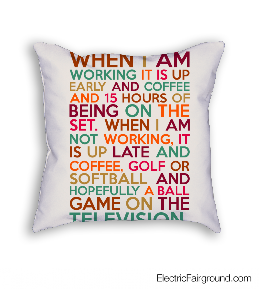 """When I am working it is up early and coffee and 15 hours of being on the set. When I am not working, it is up late and coffee, golf or softball and hopefully a ball game on the television."" ~Mackenzie Astin #SoftballQuotes"