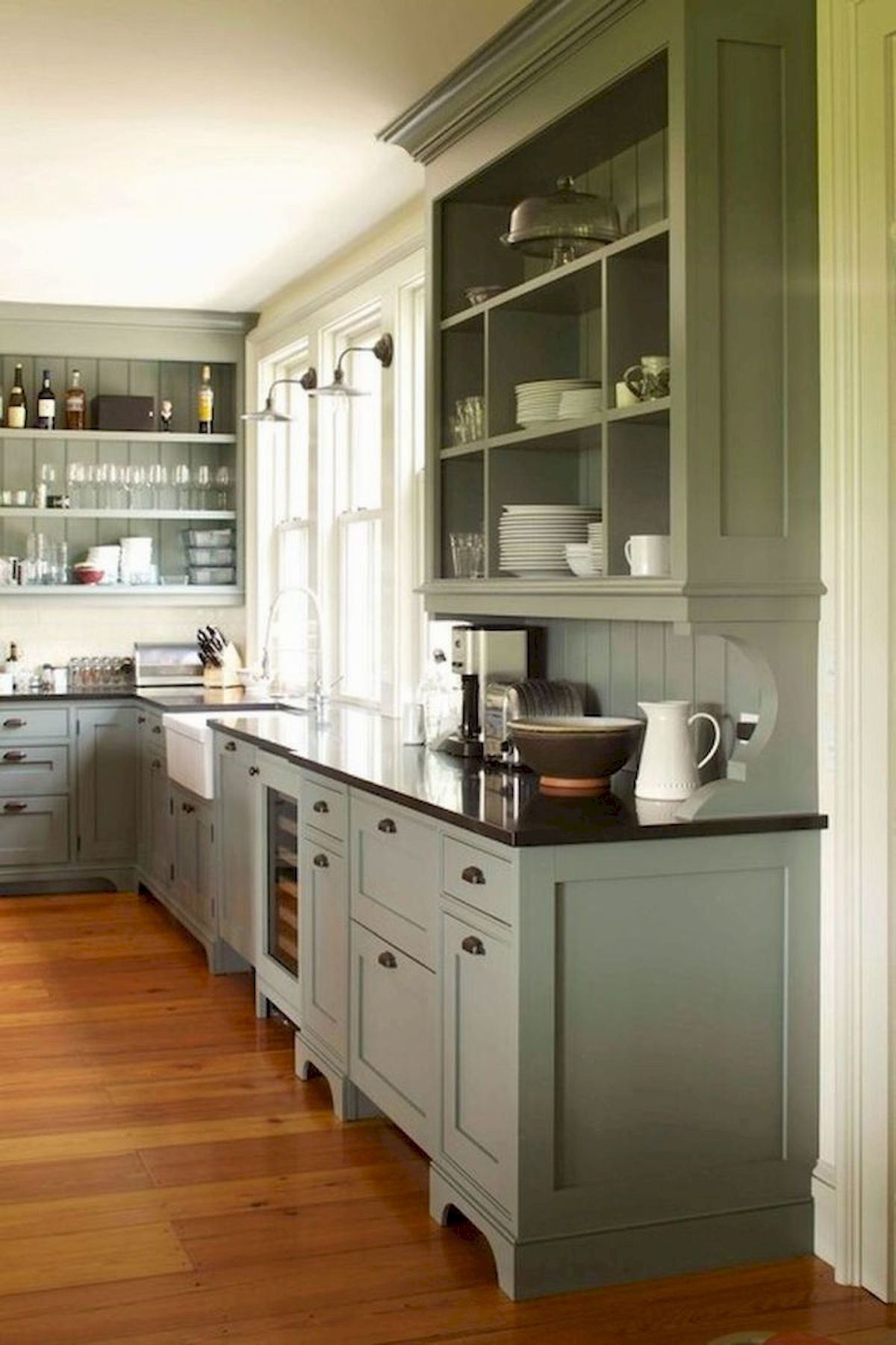 40 awesome sage greens kitchen cabinets decorating farmhouse style kitchen kitchen cabinet on kitchen cabinets farmhouse style id=62135