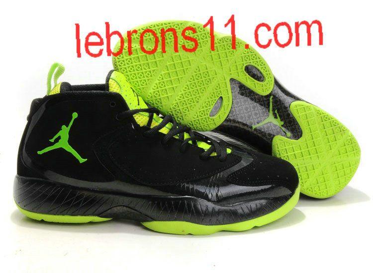 new concept 04cdb c7248 Jordan 2012 Charcoal Black Neon Green Shoes