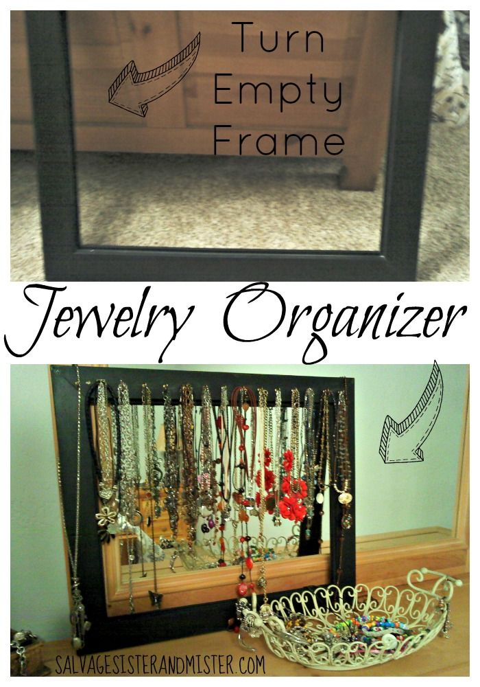 FRAMED -Jewelry Organizer   Empty frames, Simple diy and Tangled