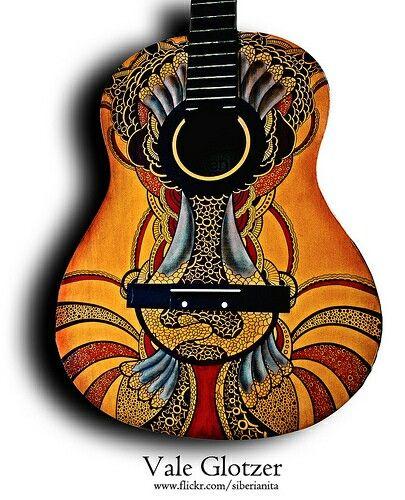 Uniquely designed guitar. - Siberianita at Flickr