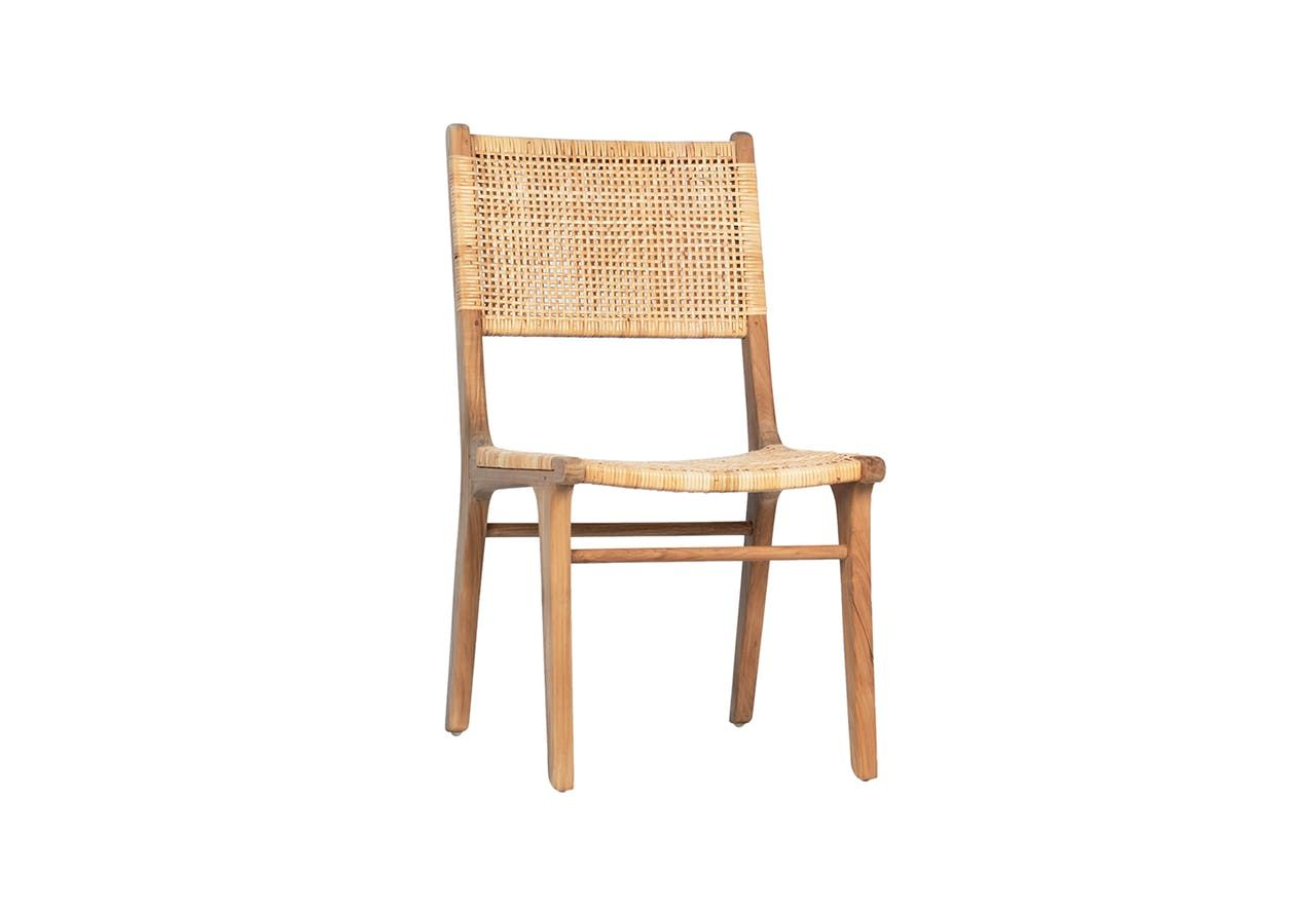 Natural Teak Wicker Dining Chair In 2020 Wicker Dining Chairs Furniture Design Dining Room Images