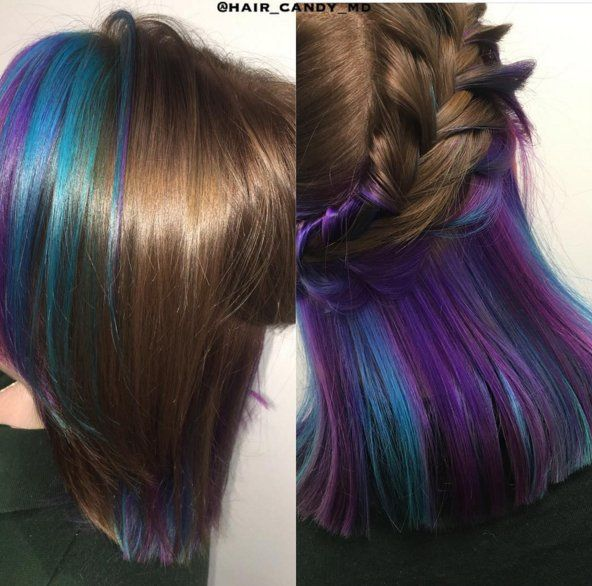 hair color hair styles trick your conservative office with this underlights 4934