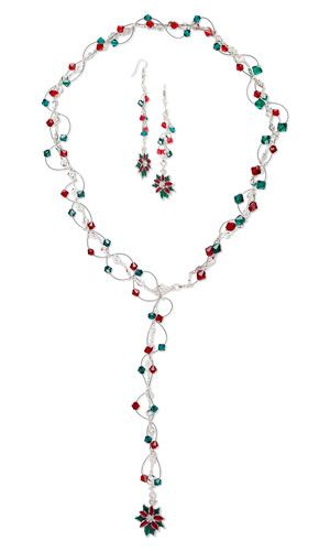 Triple-Strand Necklace and Earring Set with SWAROVSKI