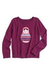 Tucker + Tate 'Icon' Intarsia Knit Cotton & Cashmere Sweater (Toddler Girls, Little Girls & Big Girls)