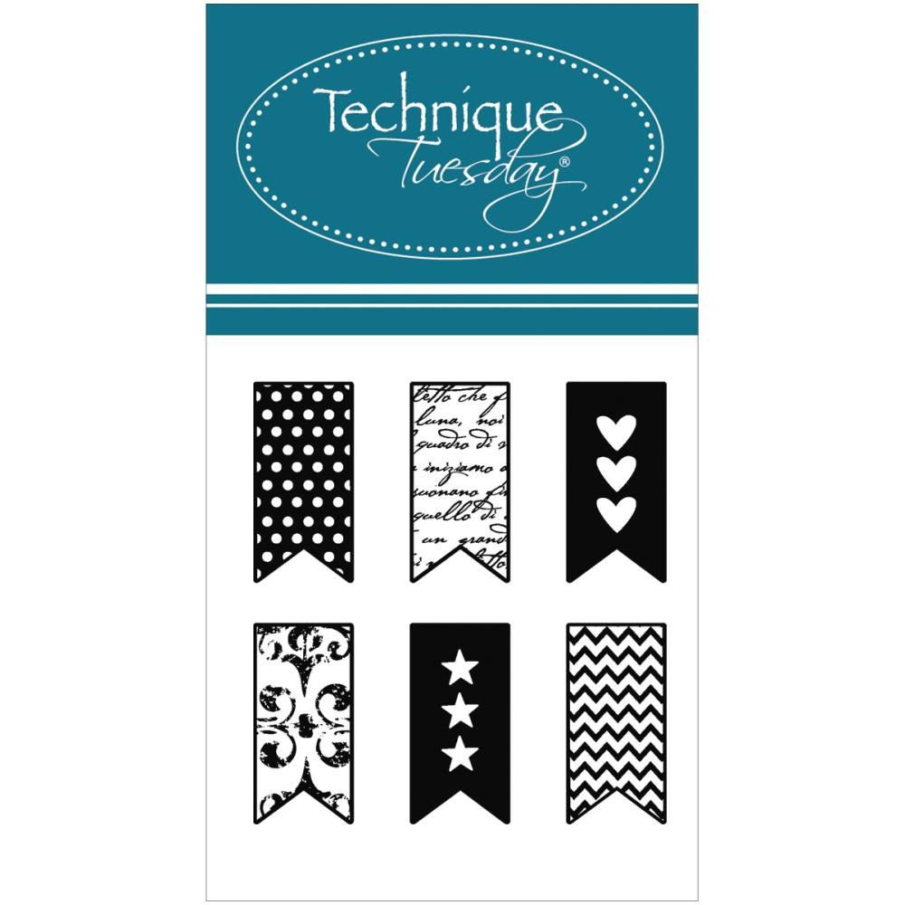 little banners clear stamps technique tuesday planner stamps heart little banners clear stamps technique tuesday planner stamps heart banner star banner chevron banner zigzag banner