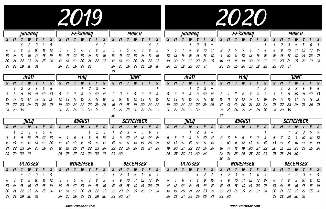 Mini Calendario 2020 Png.2019 2020 Calendar Printable 2019 Calendar Free Calendar