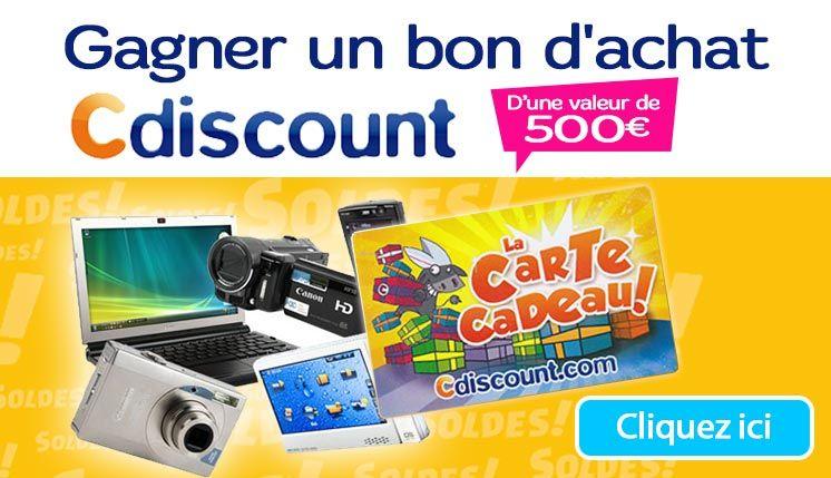 bon d achat ou carte cadeau cdiscount Une carte cadeau CDiscount à gagner ! (avec images) | Carte cadeau