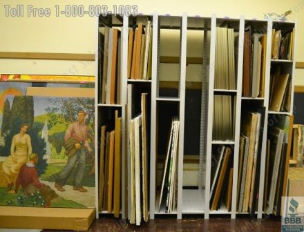 Attirant Rolling Art Storage Racks And Hanging Framed Artwork Shelving Protects  Artwork From Damage And Saves Valuable Floorspace In Museums And Other Art  Gallery ...
