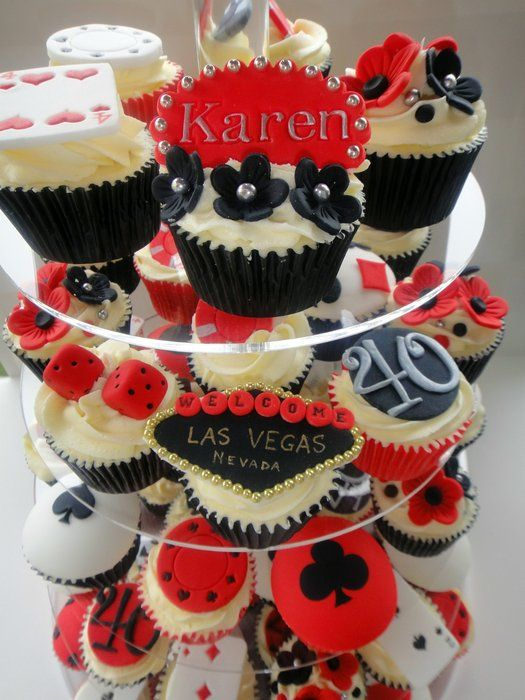 Vegas 40th Birthday Cupcakes
