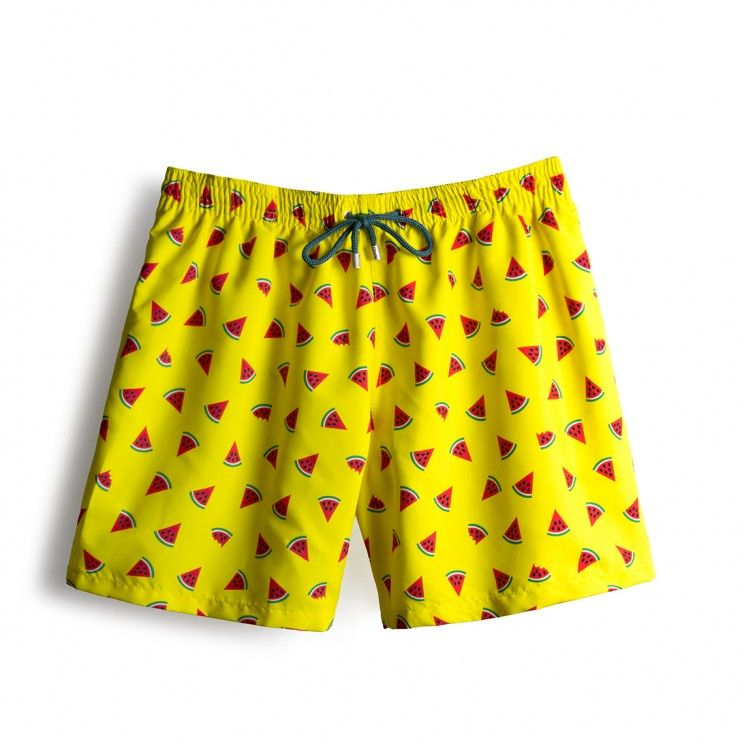 71a27fa0e8 Throwback Edición Limitada Sandias Amarillo | shortinho | Swim shorts, Boys  swim trunks e Swim trunks