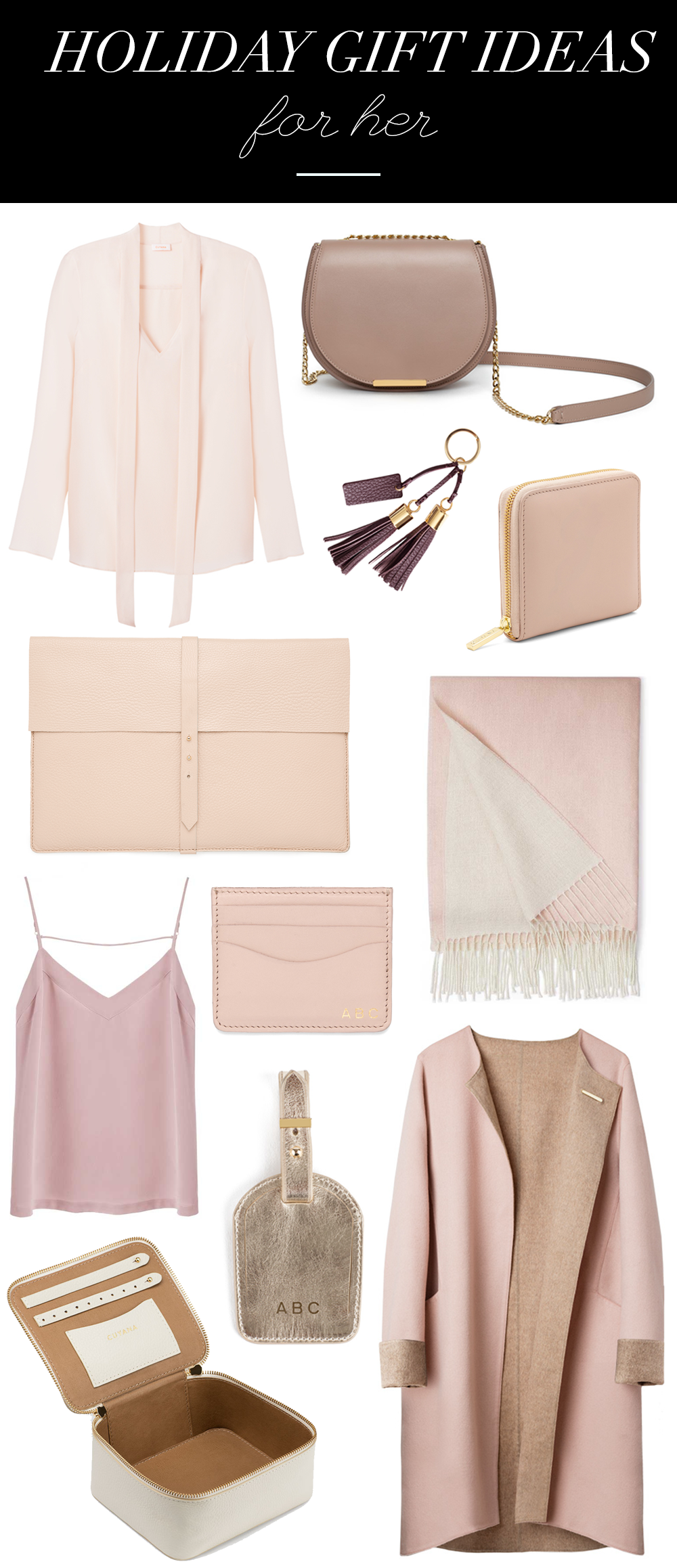holiday gift ideas for her luxury gifts for her christmas gift guide blush fashion