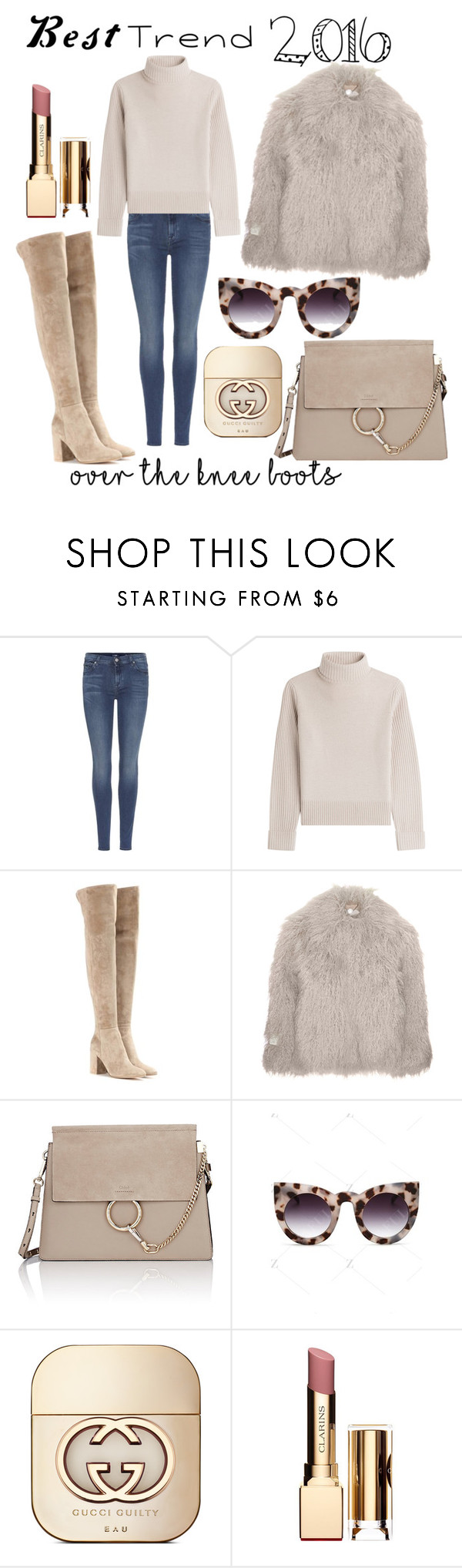 """""""Bootilisious"""" by ivka-detektivka ❤ liked on Polyvore featuring 7 For All Mankind, Vanessa Seward, Gianvito Rossi, STELLA McCARTNEY, Chloé, Gucci and Clarins"""