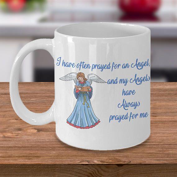 Angel Mug   Guardian Angel mug quote mug handmade mug gift mug
