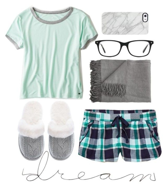 """the perfect lazy day."" by amazinggrace31 ❤ liked on Polyvore featuring Aerie, American Eagle Outfitters, Designers Guild, Victoria's Secret, Kensington Road, Uncommon, women's clothing, women's fashion, women and female"
