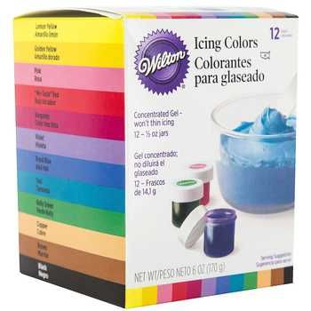 Wilton Icing Colors 12 Piece Set Hobby Lobby 776005 Icing Colors Wilton Icing Frosting Colors