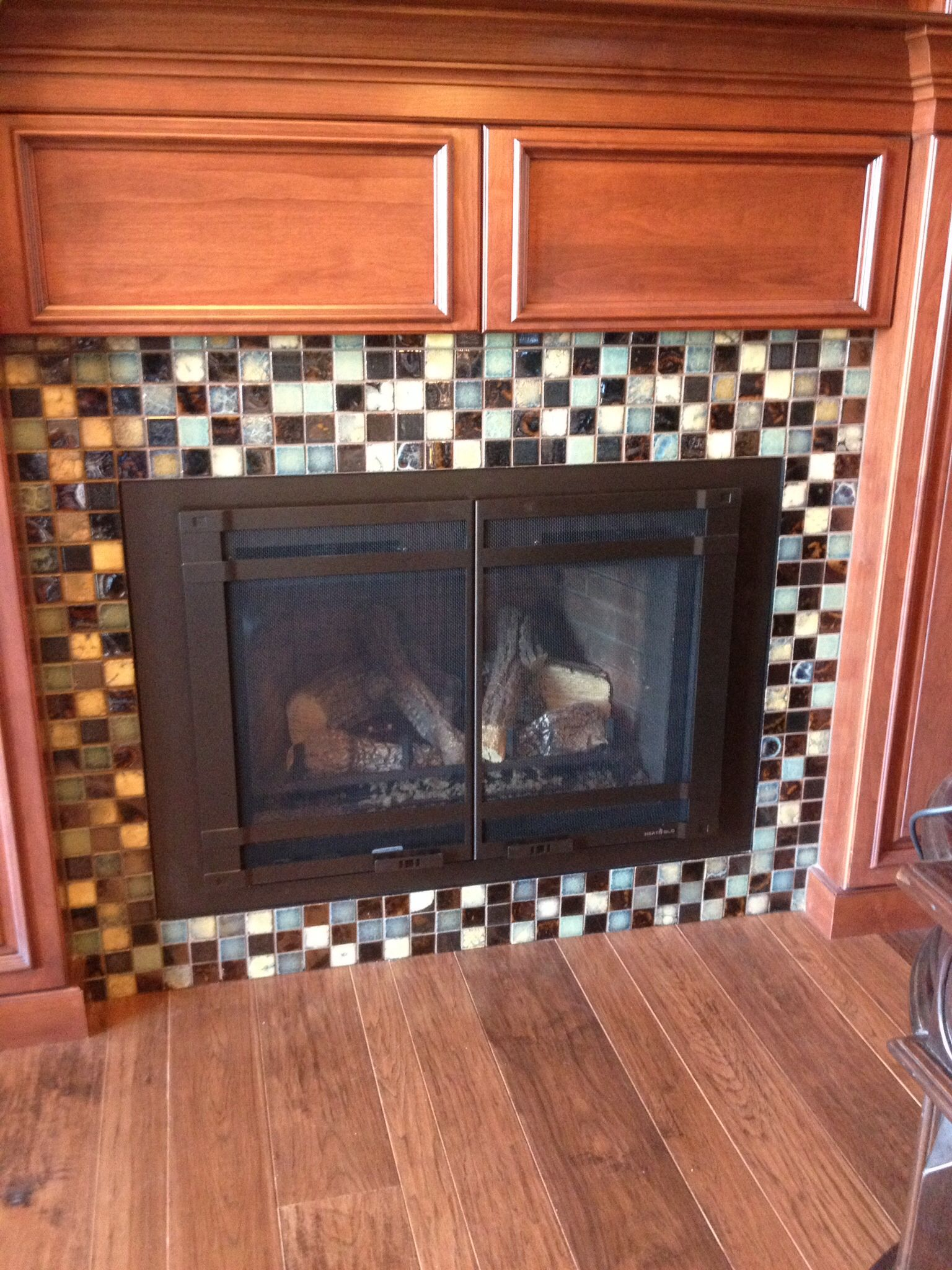 Propane Fireplace Inserts Heat N Glo Escape Insert On Propane Custom Surround And Halston