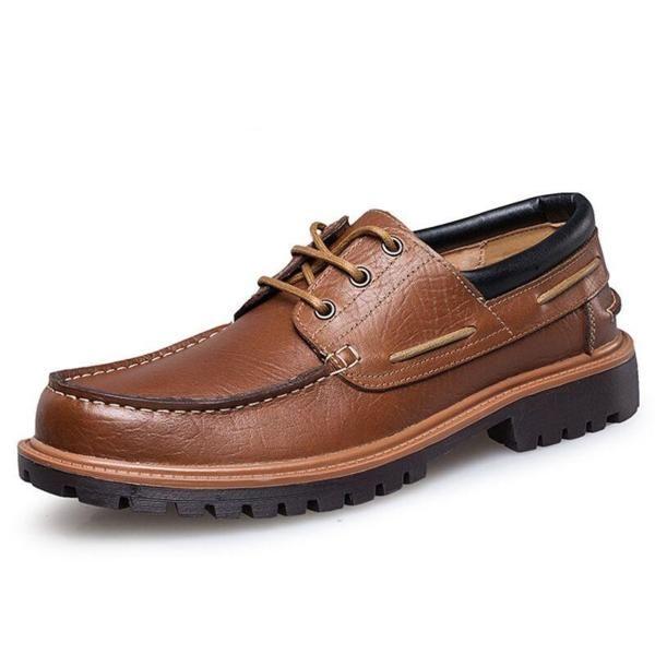 Men's Formal Oxford Shoes Wedding Dress Brand Leather