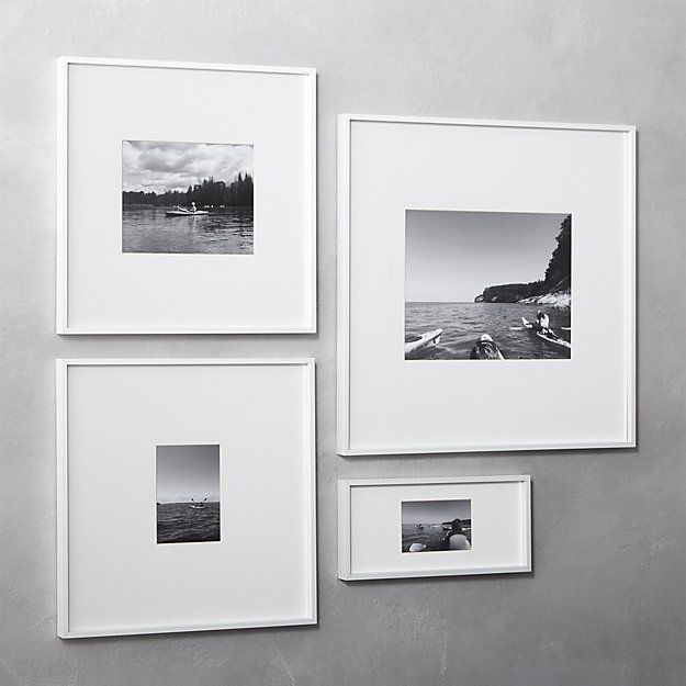 Shop gallery white 5x7 picture frame. Exhibit your favorite photo ...