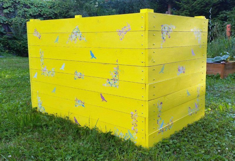 Gartenfiguren Diy Komplettbausatz Hochbeet Vintage Vogel Ein