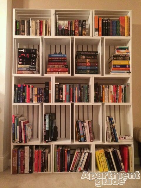 Librero con huacales muebles Pinterest
