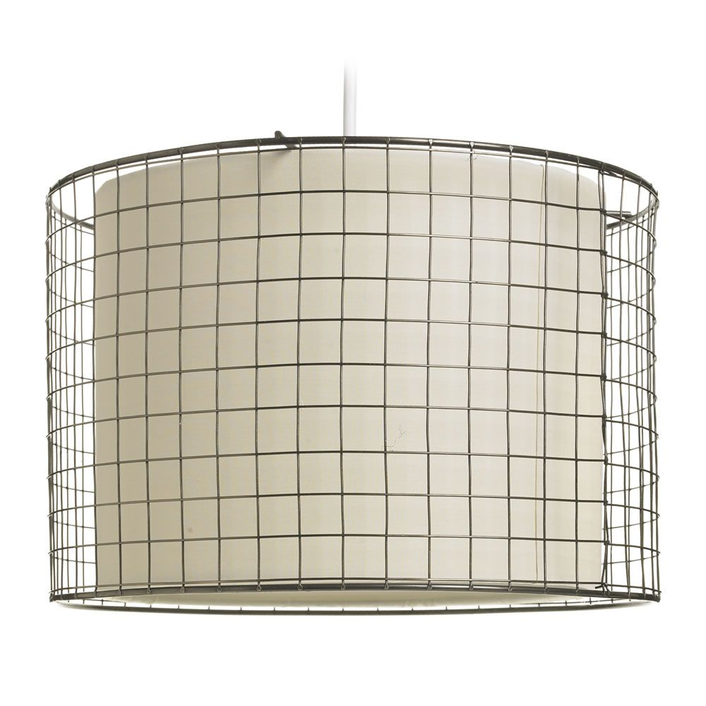 lamp light metal not cage wire included x pendant is shade