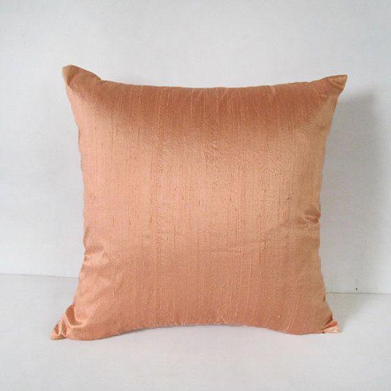 peach colored throw pillows light