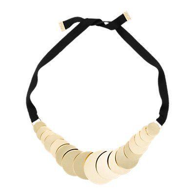 <ul><li>Ribbon necklace with gold plated discs</li><li>Tie closure</li><li>10k Gold plated / Enamel locket</li><li>Length: Adjustable 30''</li><li>Imported</li><li>Style #: 4VRU0685</li></ul>