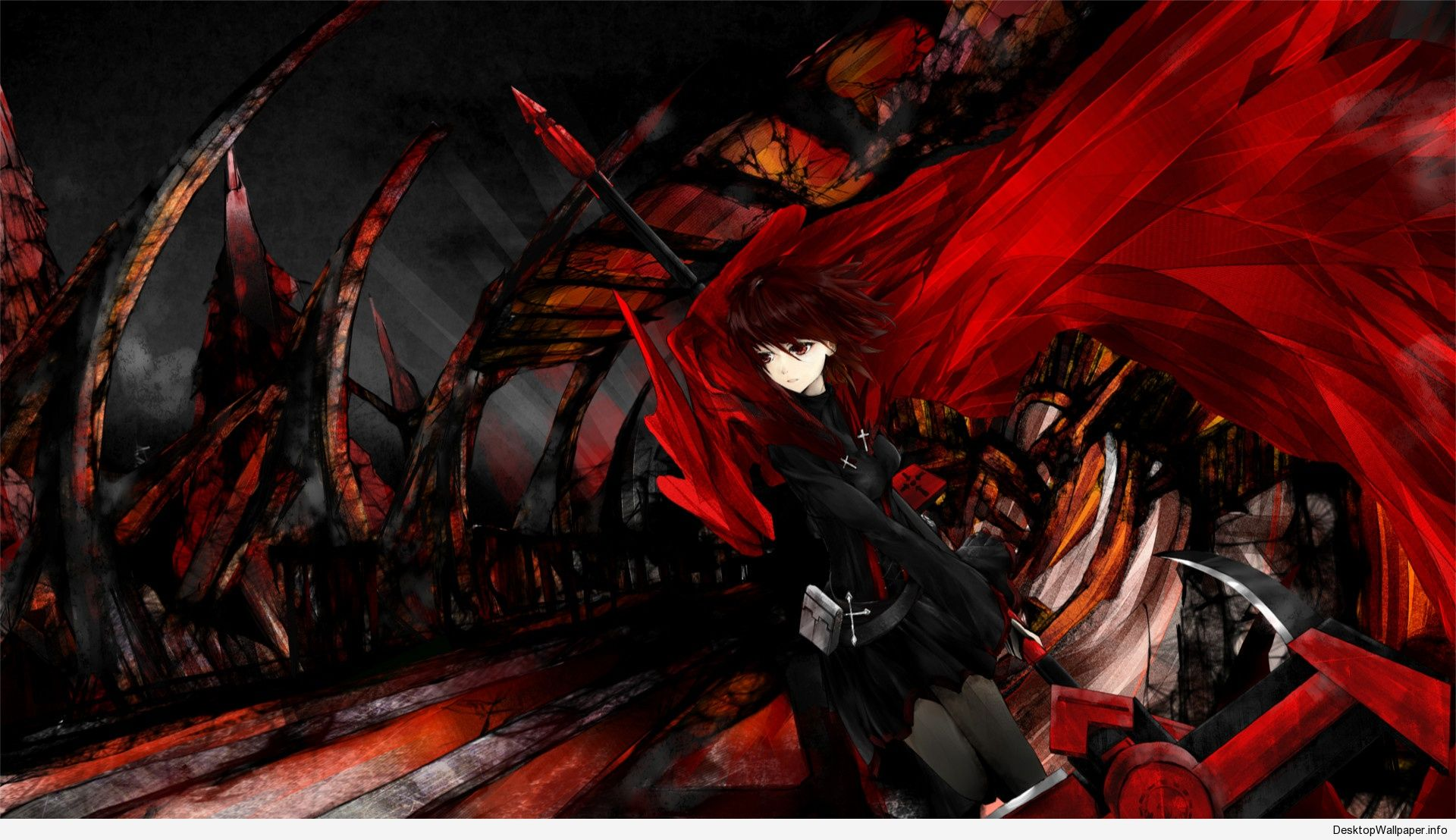 Black And Red Anime Wallpaper Http Desktopwallpaper Info Black And Red Anime Wallpaper 6373 Anime Black Wallpaper Rwby Wallpaper Rwby Anime Wallpaper