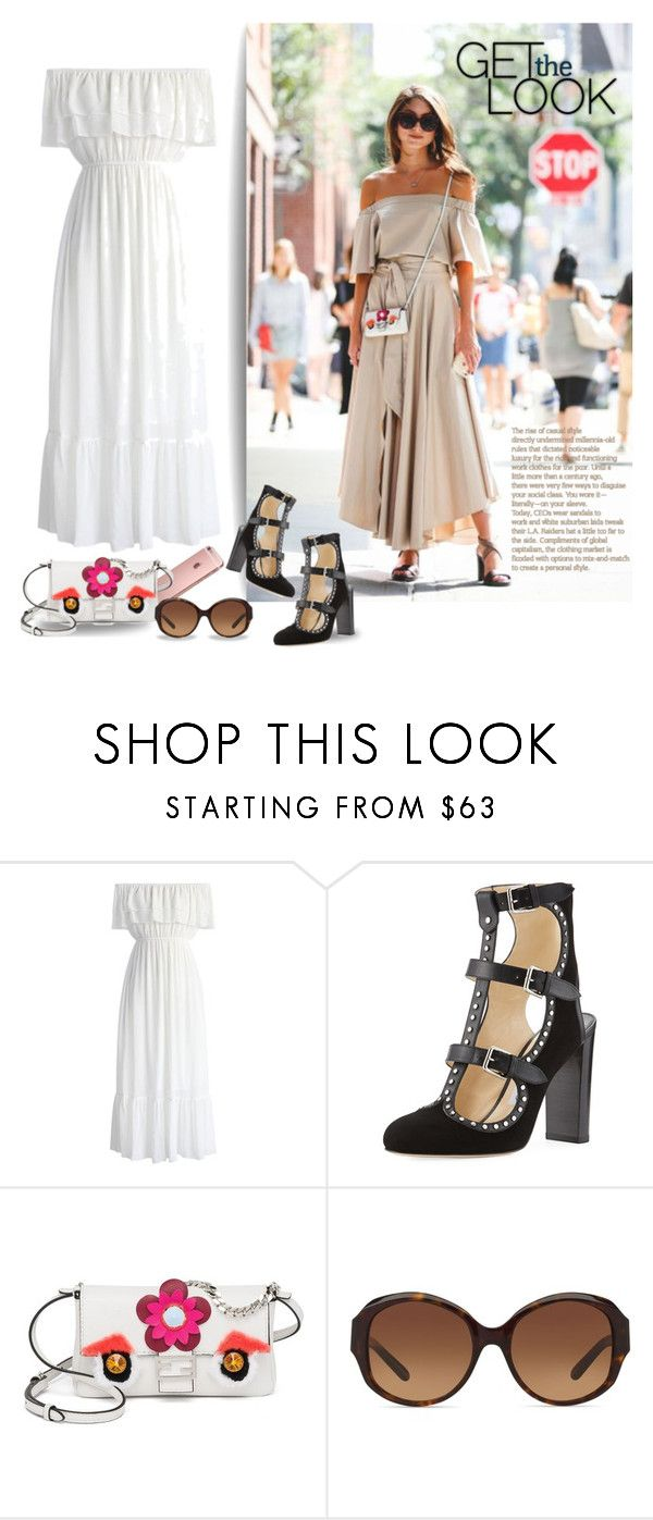 """""""Untitled #247"""" by craftsperson ❤ liked on Polyvore featuring Chicwish, Jimmy Choo, Fendi, Tory Burch and summerbooties"""